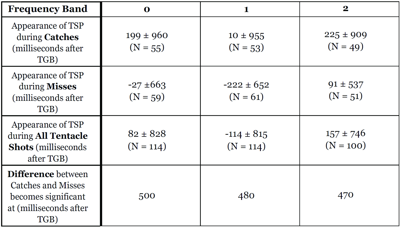 Table 2: Summary of TSP dynamics