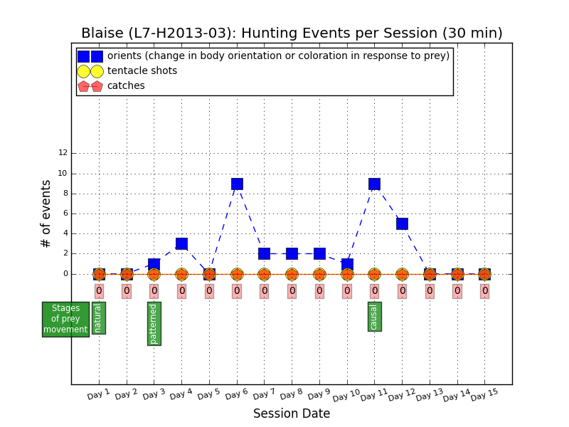 Hunting events by L7-H2013-03, aka Blaise